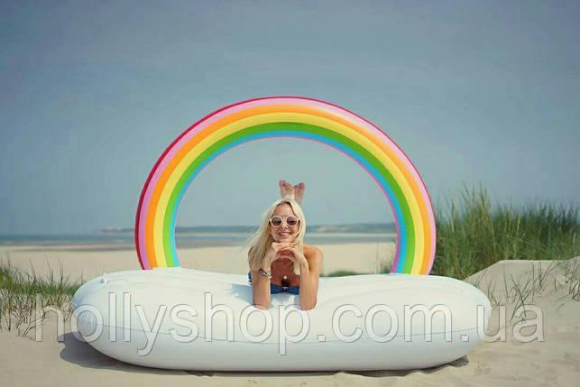Надувной матрас ОБЛАКО с радугой, фото 2
