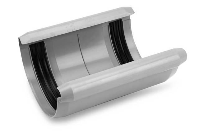 Соединитель желоба с уплотнителем ПВХ Galeco PVC 180