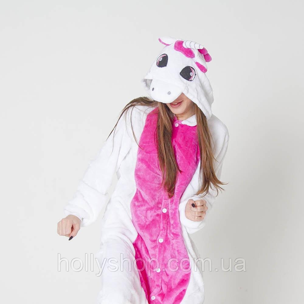 """Пижама-кигуруми Футужама """"Единорог бело - розовый"""""""