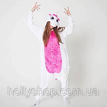 Пижама кигуруми Футужама Единорог бело - розовый, фото 2