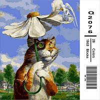 Картина по номерам Кот с ромашкой 40Х50см Mariposa Q2076