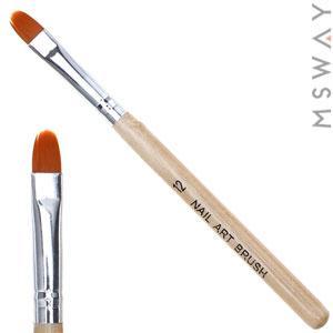 Кисть для геля KATTi 51 256 деревянные ручки Monja №12 7х12мм