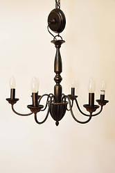 Кованная люстра на 6 ламп,общей мощностью в 360 W(6*60W, 56*h51см)