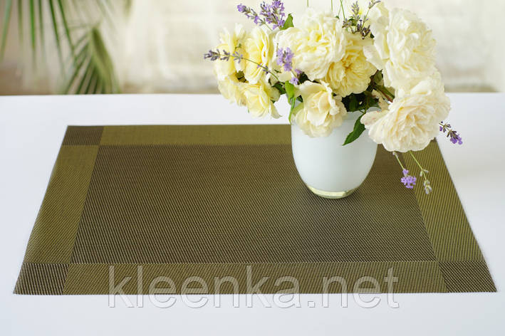 Подставка,сет, под посуду Каемка 30см*45см, серветка вінілова під столові прибори, фото 2
