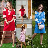 Короткое женское платье с кружевом, разные цвета, S, M, L, 525/475 (цена за 1 шт. + 50 гр.)