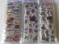 Наклейки детские JFP 7,5*21см популярные мульт герои асорти