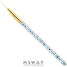 Кисть для рисования KATTi вензель (прозрачные блестящие ручки с золотом) 15мм, фото 2