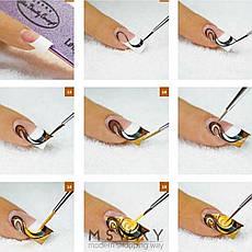 Кисть для рисования KATTi вензель (прозрачные блестящие ручки с золотом) 15мм, фото 3