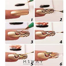 Кисть для рисования KATTi вензель (прозрачные блестящие ручки с серебром) 11мм, фото 3