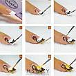 Кисть для рисования KATTi вензель (прозрачные блестящие ручки с серебром) 11мм, фото 2