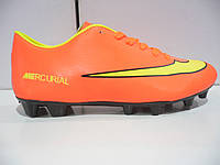 Бутсы футбольные nike mercurial оранж