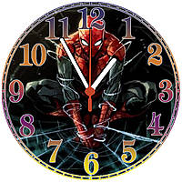 "настенные часы МДФ ""Spider-man"" круглые, фото 1"