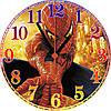 """Детские настенные часы из стекла """"SPIDER-MAN"""" круглые"""