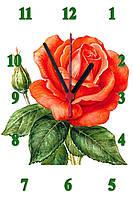 """Настенные часы МДФ   кварцевые """"Алая роза"""", фото 1"""