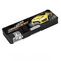 """Пенал школьный пластиковый 2 отделения на магнитах Cool For School для мальчика CFS85518 """"Racing"""""""