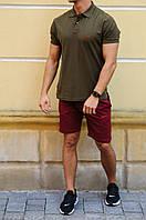 Мужские шорты с лампасами и футболка поло Nike (Найк)