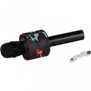 Bluetooth микрофон Karaoke V8 Камуфляж чехол, фото 2
