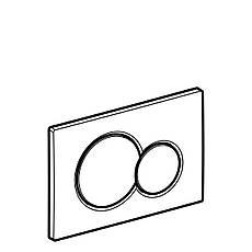Sigma01 Смывная клавиша, пластик, белый, фото 2