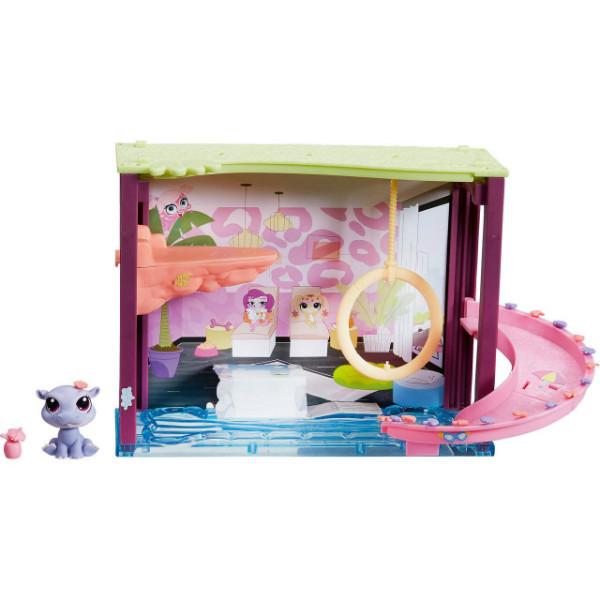 Littlest Pet Shop Бассейн с бегемотом B0119 A7641 Pawza Pool Playset with Hippo