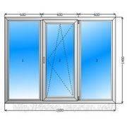 Лоджия 2100 х 1400 из 3 камерного профиля, с однокамерным, энергосберегающим стеклопакетом
