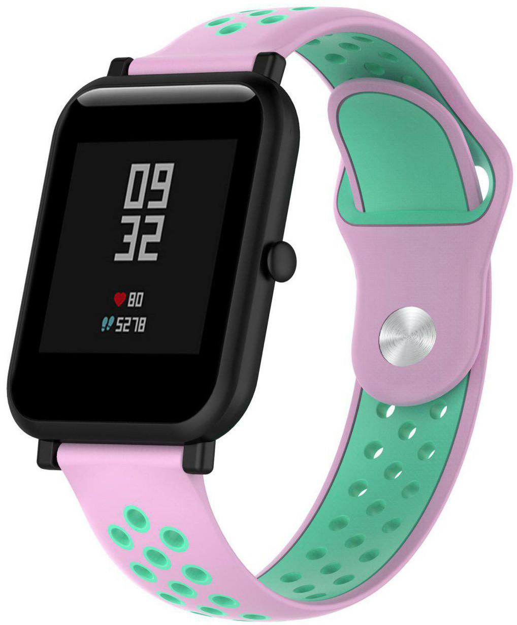 Ремешок спортивный Smart Band для AmazFit Bip Силикон Розовый (459588)