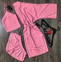 Розовый комплект домашней одежды.