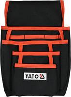 Сумка поясная для инструментов и метизов YATO с карманами