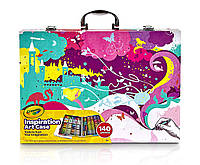 Арт кейс Crayola Набір для малювання Inspiration Art In Pink, Portable Art & Coloring Supplies.140 Count