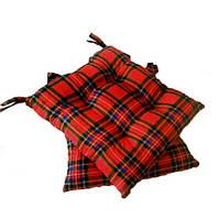 Подушка на стул Шотландка красная  40*40 см