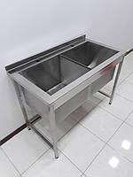 Ванна моечная из нержавеющей стали 1160х500х850, фото 1