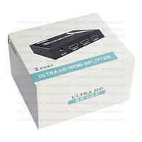 Сплиттер HDMI 1x2 MT-VIKI (1080p, 4K*2K, 165MHz, EDID, версия 2.0), DC-5V
