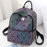 Стильные городские рюкзаки для девушек светоотражающий хамелеон Bao Bao Issey Miyake Chameleon Night 3016