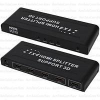 Сплиттер HDMI 1x4 MT-VIKI (1080p, 4K*2K, 165MHz, EDID, версия 2.0), DC-5V