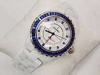 Женские кварцевые керамические наручные часы Chanel Ceramic, White, фото 1