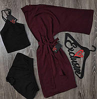 Штапельный комплект пижама и халат.