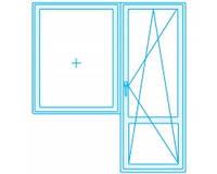 Балконный блок, 3 камерный профиль, однокамерный, энергосберегающий стеклопакет