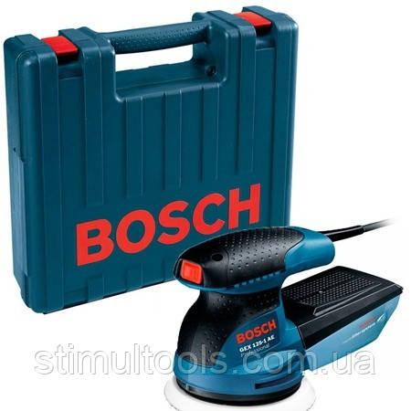 Эксцентриковая шлифмашина Bosch GEX 125-1AE в кейсе