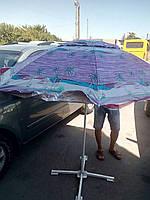 """Зонт торговый пляжный 2,2 м с ветровым клапаном и  механизмом """"ромашки""""- Розовый"""