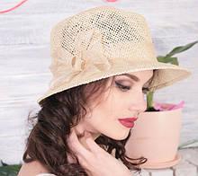 Шляпа  для лета средние поля  из рисовой соломки