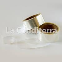 Тонкая бордюрная лента для тортов и пирожных прозрачная (h=100 мм, S=40 мкм), в рулоне 100 м, фото 1