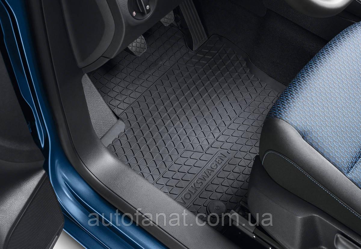 Комплект резиновых ковриков в салон Volkswagen Caddy 2007-2010, 2011-2015, Caddy 4 (A5) c 2015 (2K1061500B82V)