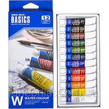 """Акварельные краски 12 цв*12 мл, в тубе / """"Water"""" Basics (CW8013)"""