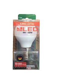Світлодіодна лампа куля:LAMP CLASSIC 6W E14 3000K