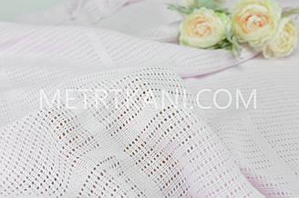 Филейное полотно  светло-розового цвета 240 см  №  Ф-03