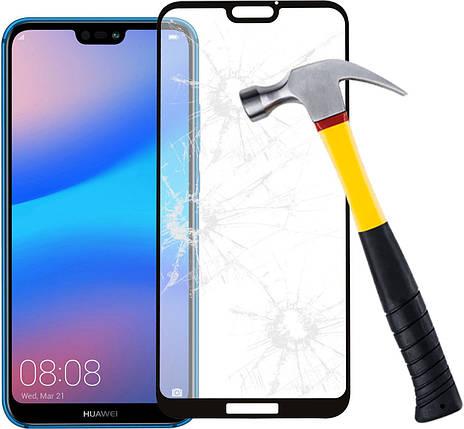 Захисне скло з рамкою 2,5 D-3D Frame для Huawei Y6 2019 0.30 мм, фото 2
