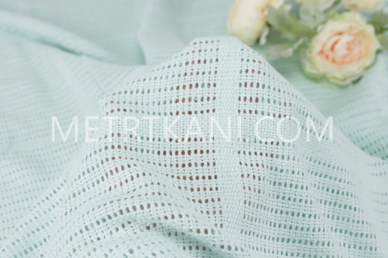 Филейное полотно  мятного цвета 240 см  №  Ф-04