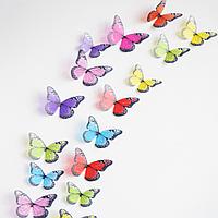 Набор №51 из 18 шт разноцветных  декоративных 3-D бабочек