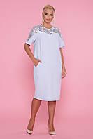 Красивое женское платье за колено, размеры 50 52 54 56