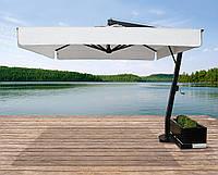 """Зонт для летней площадки для кафе """"Saturno"""" от 3*3 (консольный). Ткань Acrylic gr. 320 m/q Ecru (беж.)."""