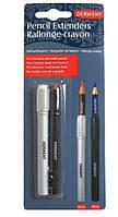Набір тримачів для подовження олівців. диаметром 7мм и 8мм, 2 шт, Derwent 2300124